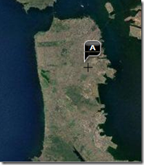 Location of Bernal Heights in SF - Satellite View, Yahoo Maps.