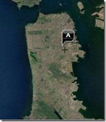 Location of Bernal Heights in SF - Satellite View, Yahoo Maps.