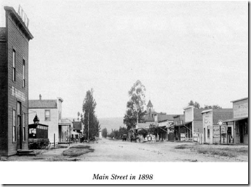 El Cajon Main Street in 1898