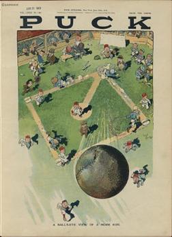 Ball's eye view of a home run