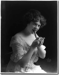 Young Woman With Big Cigar